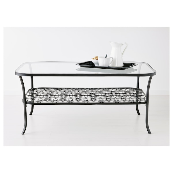 Klingsbo Coffee Table Black Clear Glass
