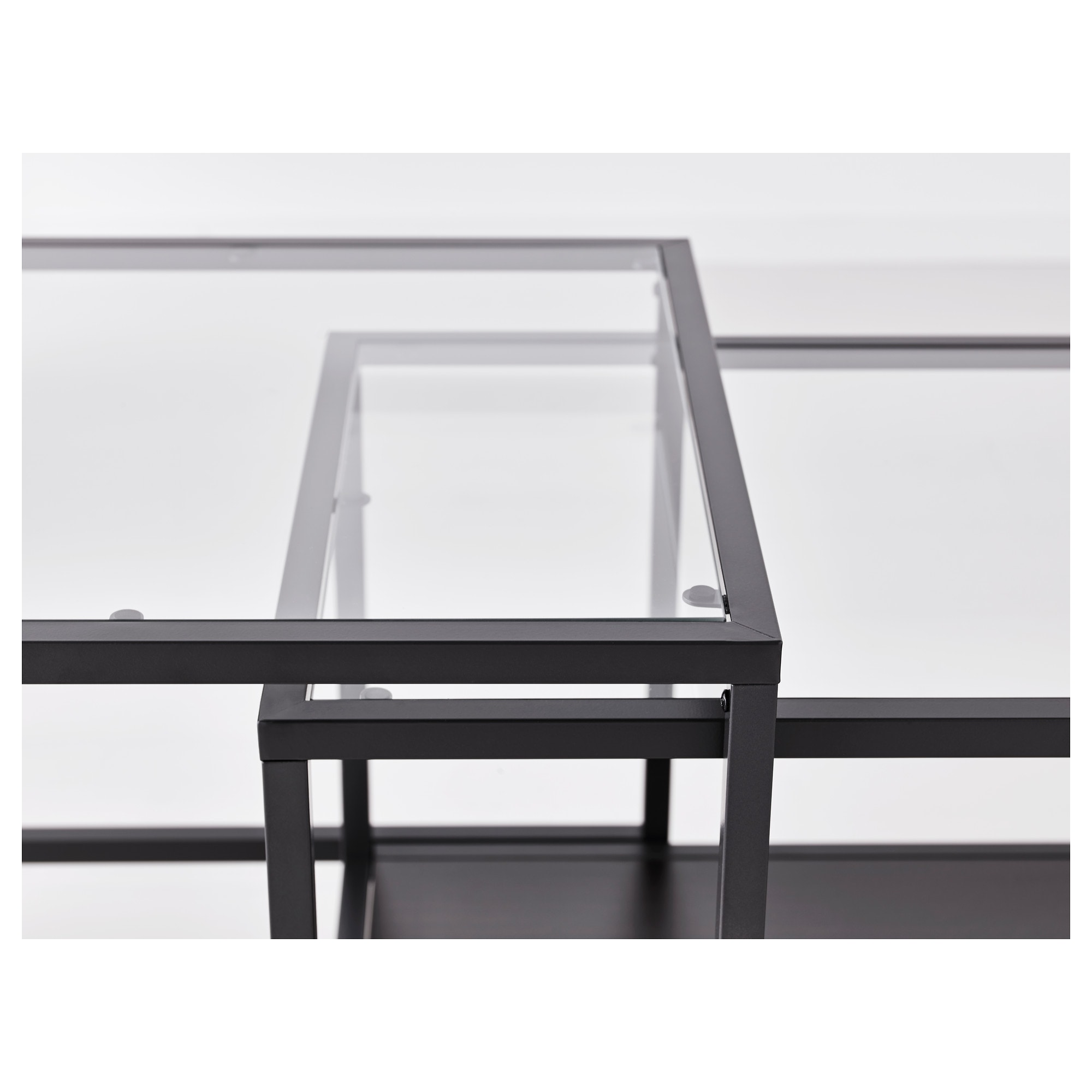 vittsjÖ nesting tables set of   whiteglass  ikea -