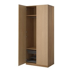 PAX, Wardrobe, oak effect, Nexus oak veneer