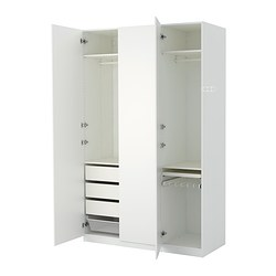 Pax series customizable wardrobes ikea for Armoire chambre blanche