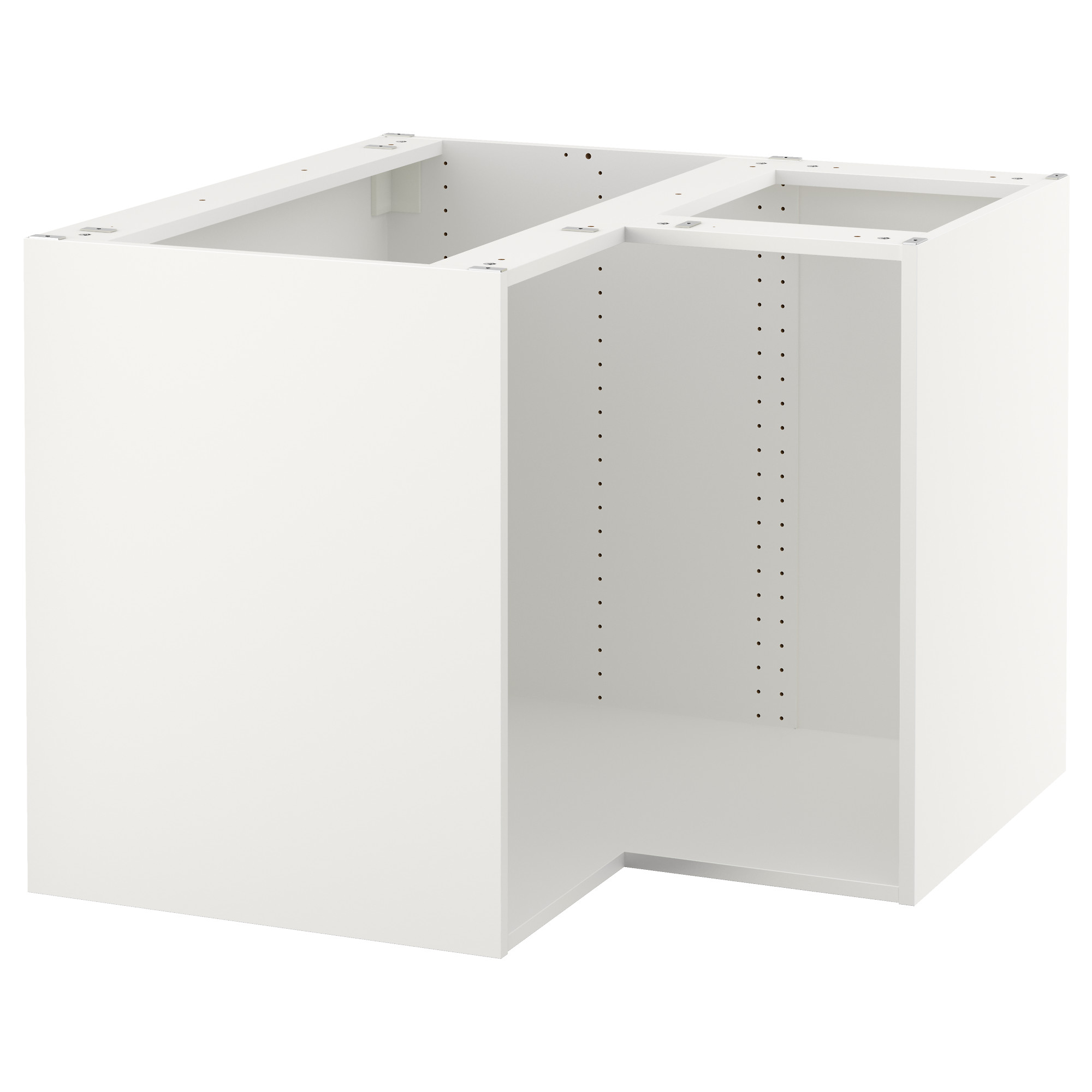 SEKTION base corner cabinet frame, white Depth without suspension rail: 37  3/4
