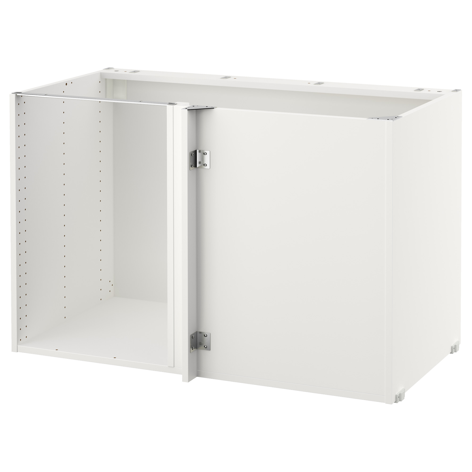 SEKTION base corner cabinet frame, white Depth without suspension rail: 23  5/8