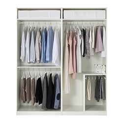 pax wardrobes without doors. Black Bedroom Furniture Sets. Home Design Ideas