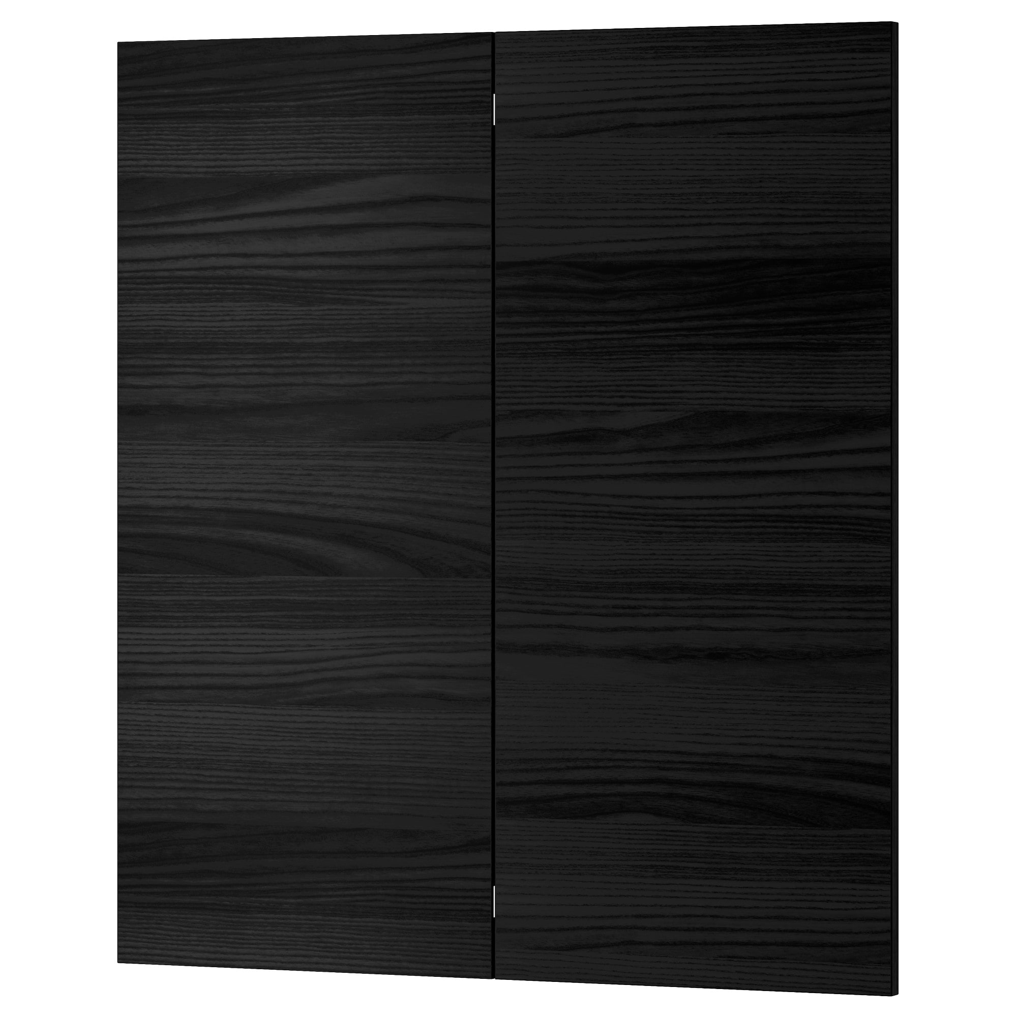Black kitchen cabinet doors winda 7 furniture for Black cabinet with doors
