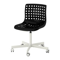SKÅLBERG /  SPORREN swivel chair, white, black Tested for: 110 kg Width: 71 cm Depth: 71 cm
