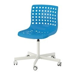SKÅLBERG /  SPORREN swivel chair, white, blue Tested for: 110 kg Width: 71 cm Depth: 71 cm