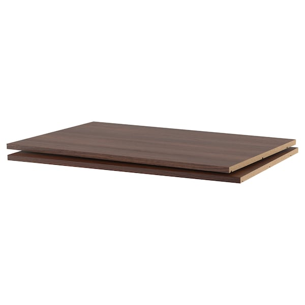 UTRUSTA Shelf, wood effect brown