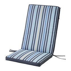TÅSINGE seat/back cushion, outdoor, blue Length: 109 cm Width: 47 cm Back height: 65 cm