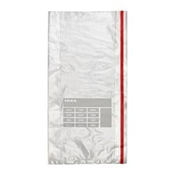 FÖRNYBAR freezer bag, red Volume: 3 qt Package quantity: 40 pack Volume: 3 l Package quantity: 40 pack