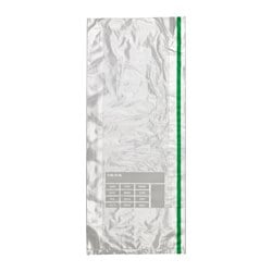 FÖRNYBAR freezer bag, green Volume: 5 qt Package quantity: 30 pack Volume: 5 l Package quantity: 30 pack