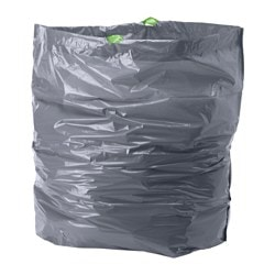 FÖRSLUTAS waste bag, grey