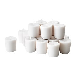 FÖREDRA unscented votive candle, white