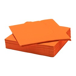 FANTASTISK paper napkin, orange Length: 40 cm Width: 40 cm Package quantity: 50 pieces