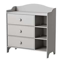 TROGEN chest of drawers, light grey Width: 100 cm Depth: 42 cm Depth of drawer (inside): 41 cm