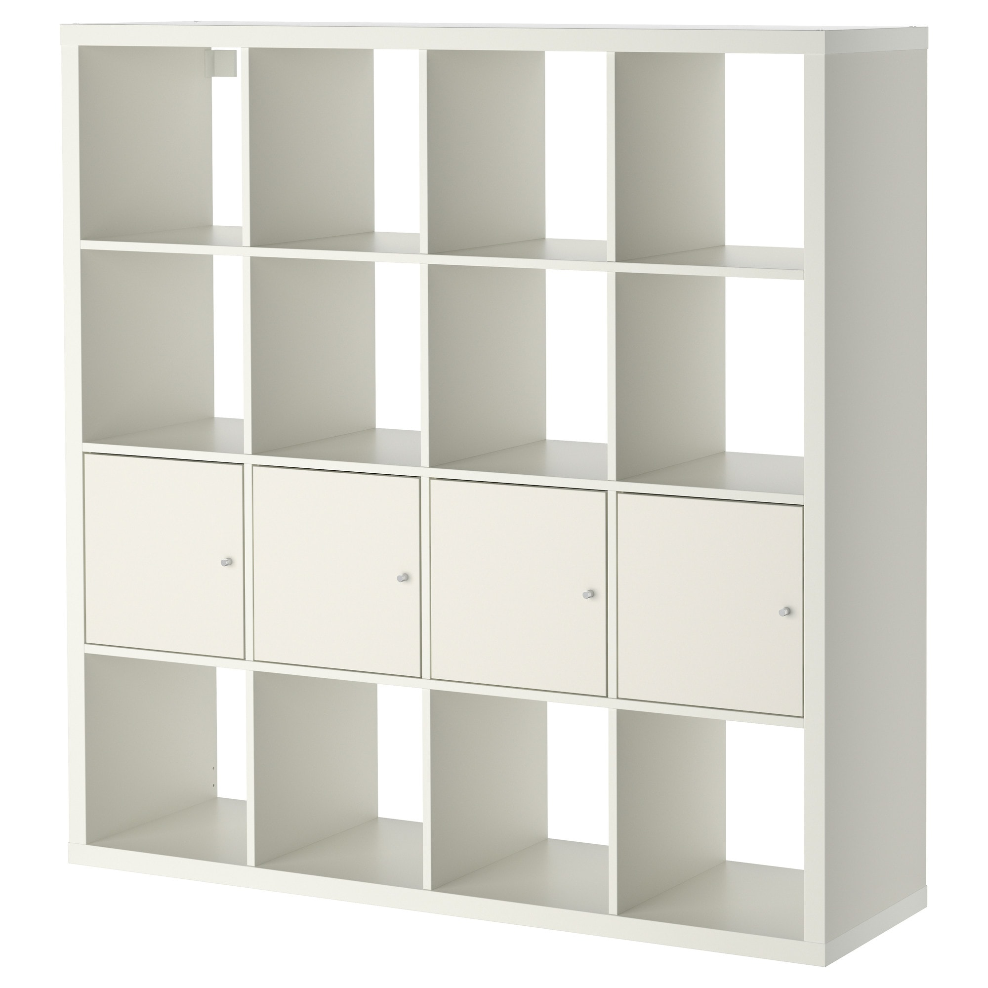 kallax shelving unit with 4 inserts white - ikea