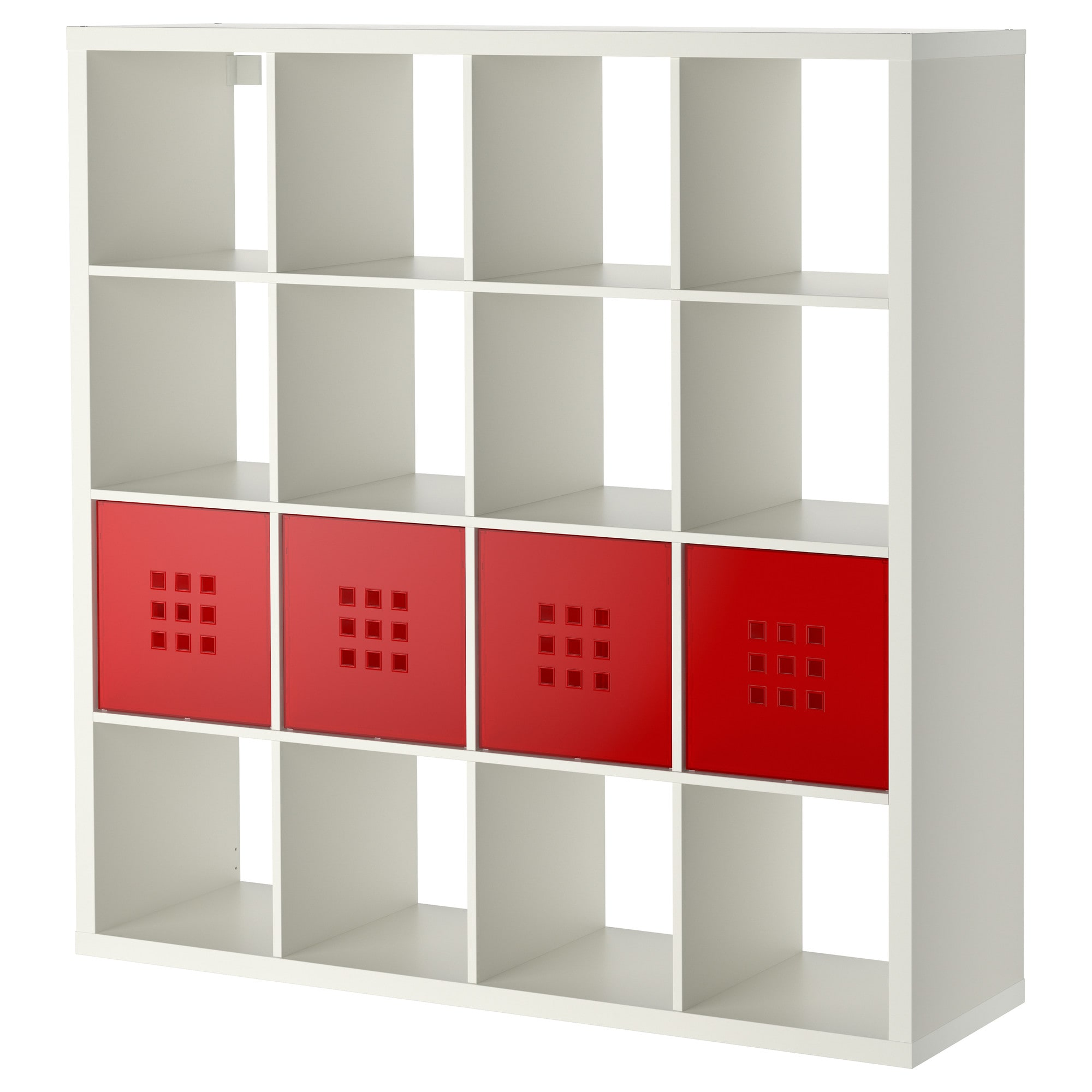 kallax shelving unit with 4 inserts - ikea
