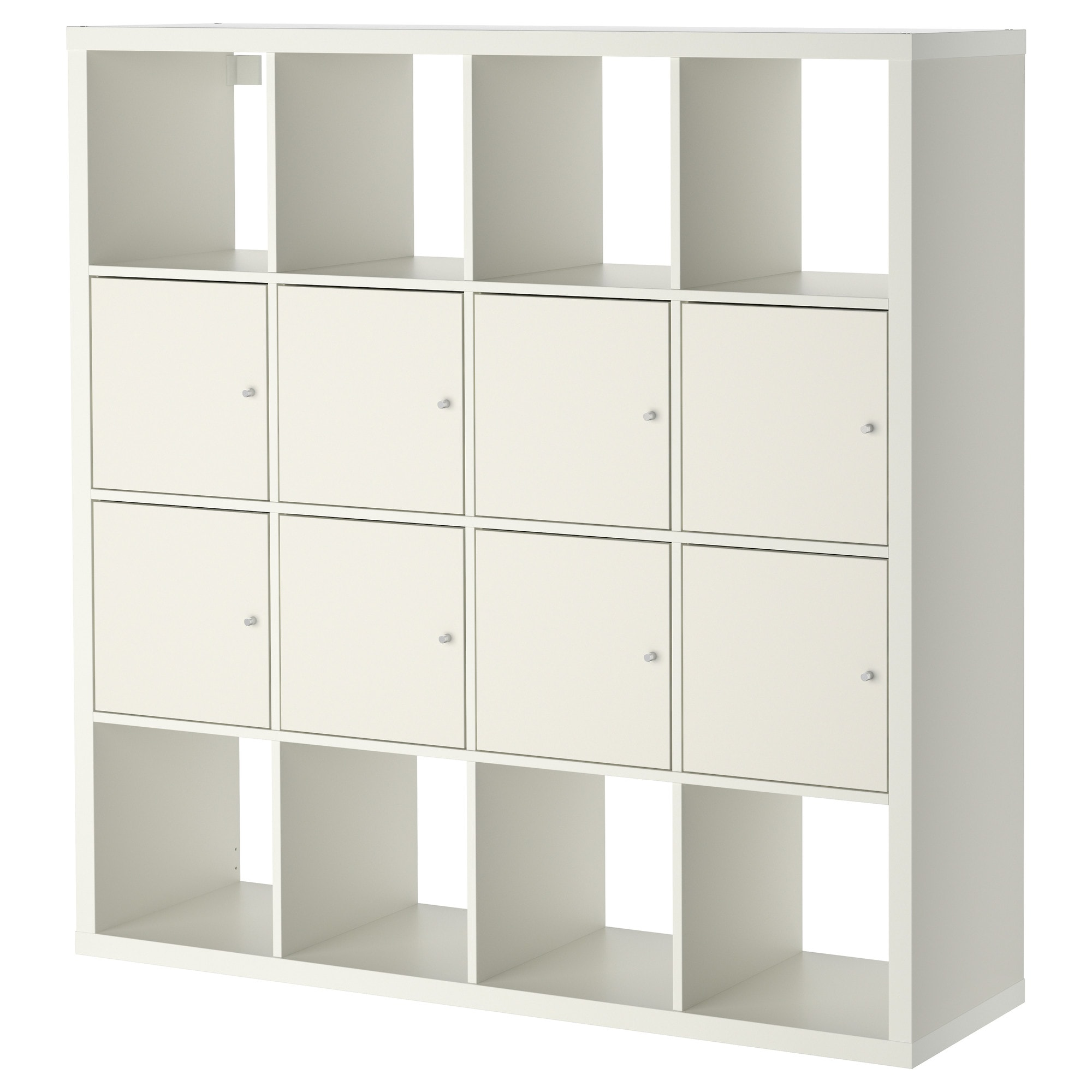 Kallax Shelf Unit With 8 Inserts White 57 7 8x57 7 8 Ikea