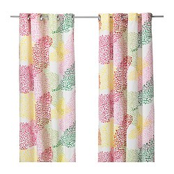 "MURGRÖNA curtains, 1 pair, multicolor, white Length: 98 "" Width: 57 "" Weight: 3 lb 15 oz Length: 250 cm Width: 145 cm Weight: 1.80 kg"