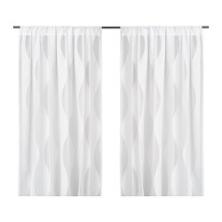 MURRUTA cortinas red, par, blanco