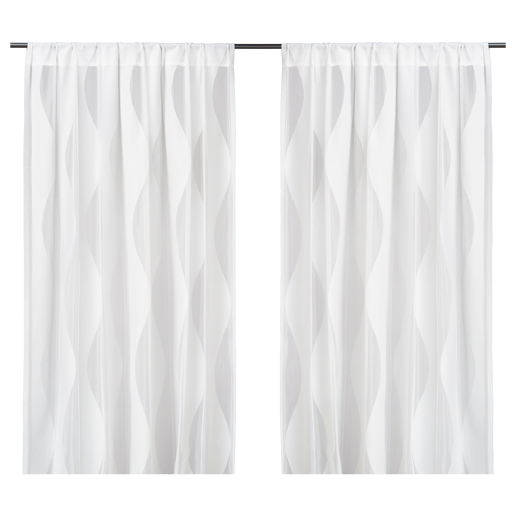 White window curtains - Murruta Lace Curtains 1 Pair White Length 98 Width 57