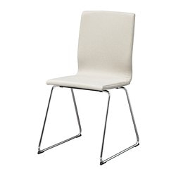 VOLFGANG chair, Dansbo beige, chrome-plated Tested for: 110 kg Width: 50 cm Depth: 45 cm