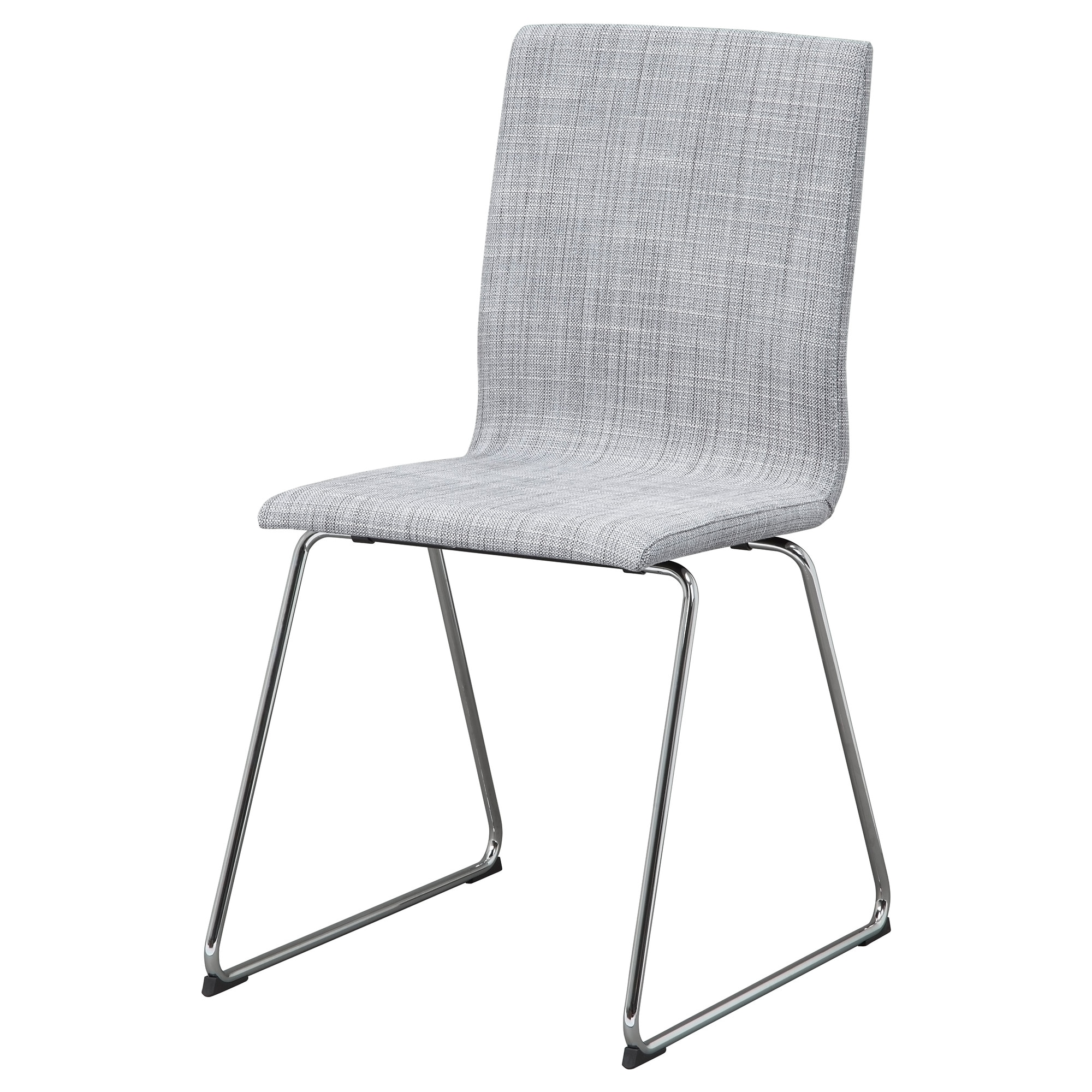 VOLFGANG chair  chrome plated  Isunda gray Tested for  243 lb Width  19Dining chairs   Dining chairs   Upholstered chairs   IKEA. High Back Dining Chairs Ikea. Home Design Ideas