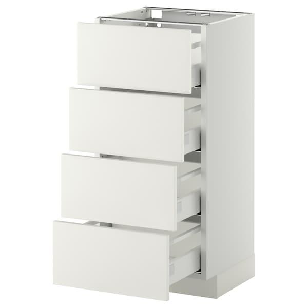Metod Maximera Base Cab 4 Frnts4 Drawers White Häggeby White