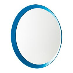 LANGESUND mirror, blue Diameter: 50 cm