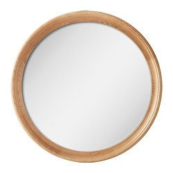 STABEKK mirror, light brown Diameter: 75 cm