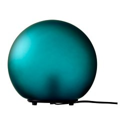 "FADO table lamp, turquoise Diameter: 10 "" Height: 9 "" Cord length: 6 ' 1 "" Diameter: 24.5 cm Height: 23.5 cm Cord length: 185 cm"