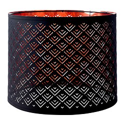 NYMÖ lamp shade, copper-colour, black Diameter: 37 cm Height: 30 cm