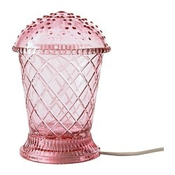 VÅRBY LED table lamp, pink Luminous flux: 70 lm Diameter: 11 cm Height: 17 cm