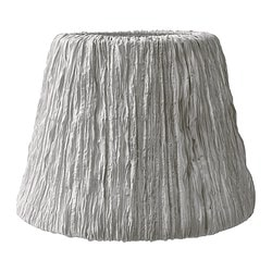 HEMSTA lamp shade, light grey Diameter: 45 cm Shade height: 33 cm