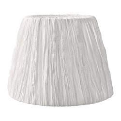 "HEMSTA lamp shade, white Diameter: 18 "" Height: 13 "" Diameter: 45 cm Height: 32 cm"