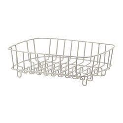 ATLANT dish drainer/rinsing basket, silver-colour Length: 36 cm Width: 32 cm Height: 11 cm