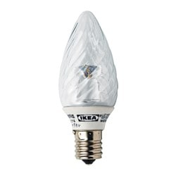 LEDARE LED bulb E17 90 lumen, twisted clear, chandelier Luminous flux: 90 lm Power: 1.8 W