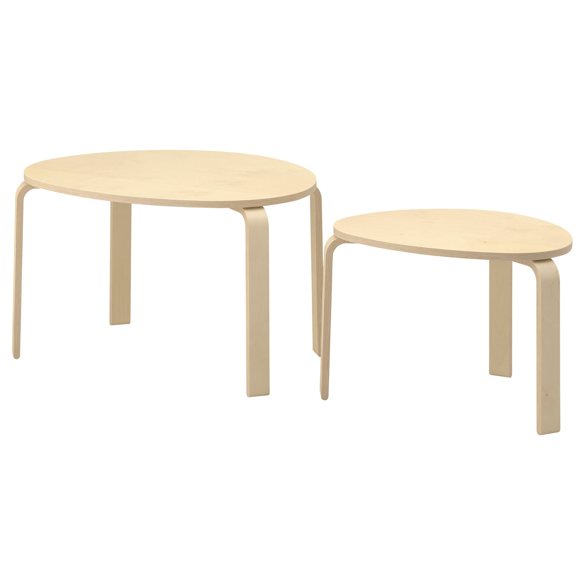 svalsta nesting tables set of   white stain  ikea -