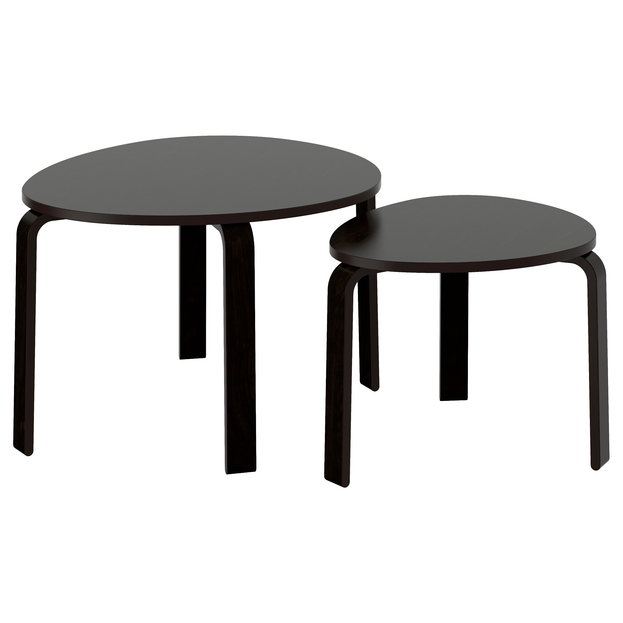 SVALSTA Nesting tables set of 2 white stain IKEA