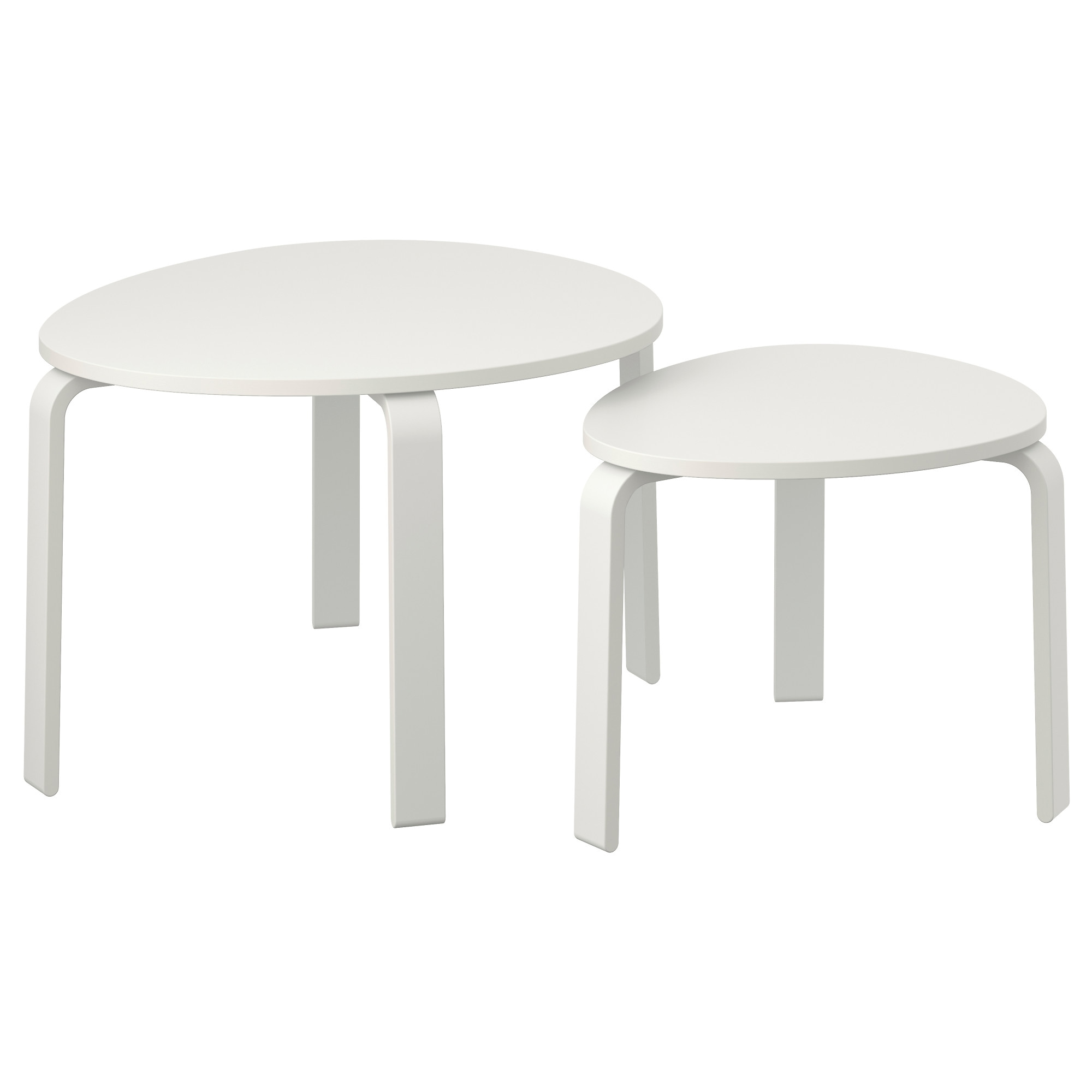 SVALSTA Nesting Tables, Set Of 2   White Stain   IKEA