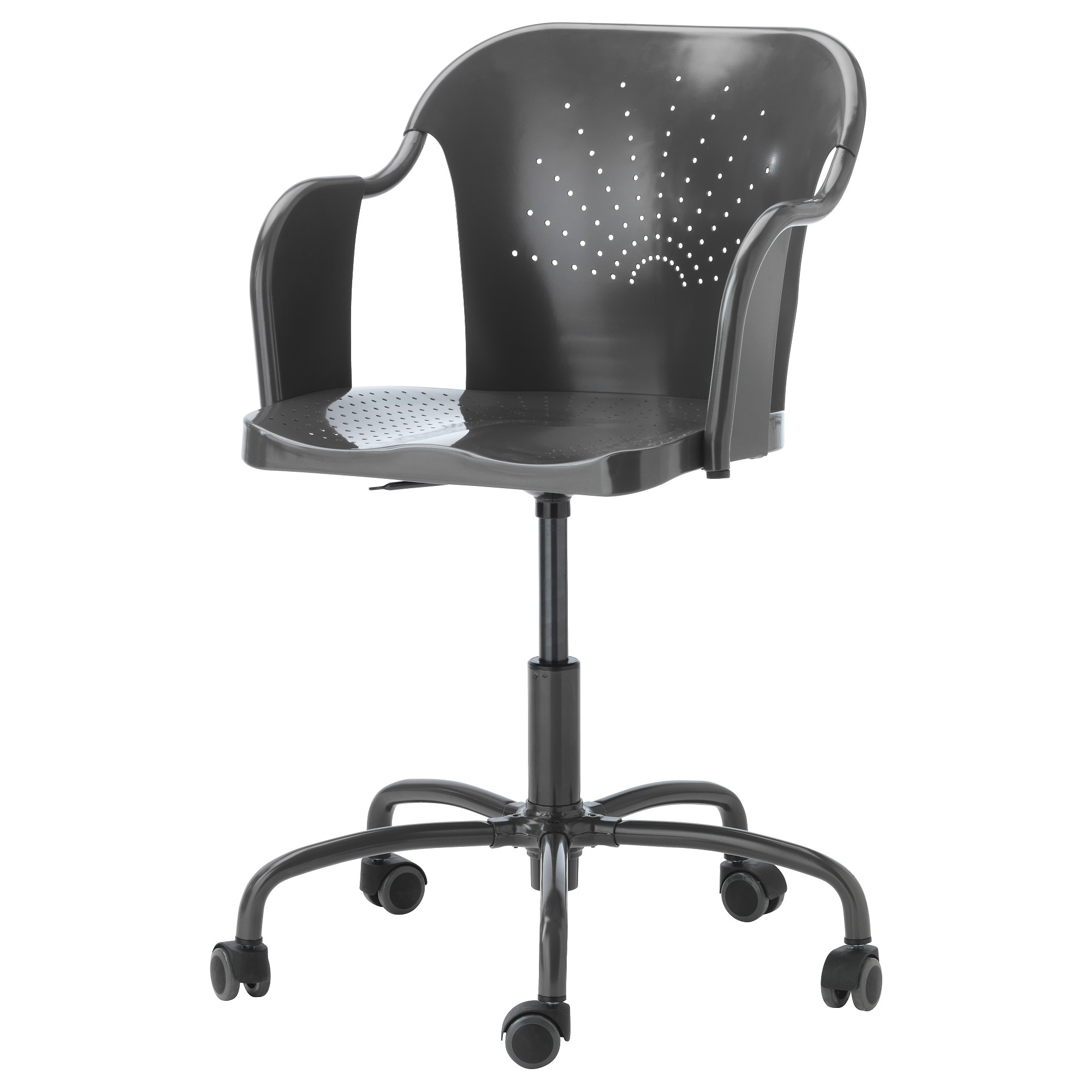 Black and white office chair - Roberget Swivel Chair Gray Tested For 243 Lb Width 23 5 8