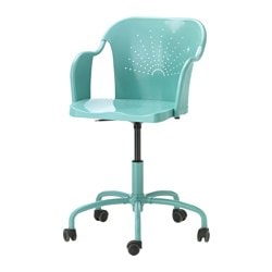 ROBERGET swivel chair, turquoise Tested for: 110 kg Width: 60 cm Depth: 65 cm