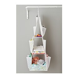 Pluring Hanging Storage With 3 Compartments White
