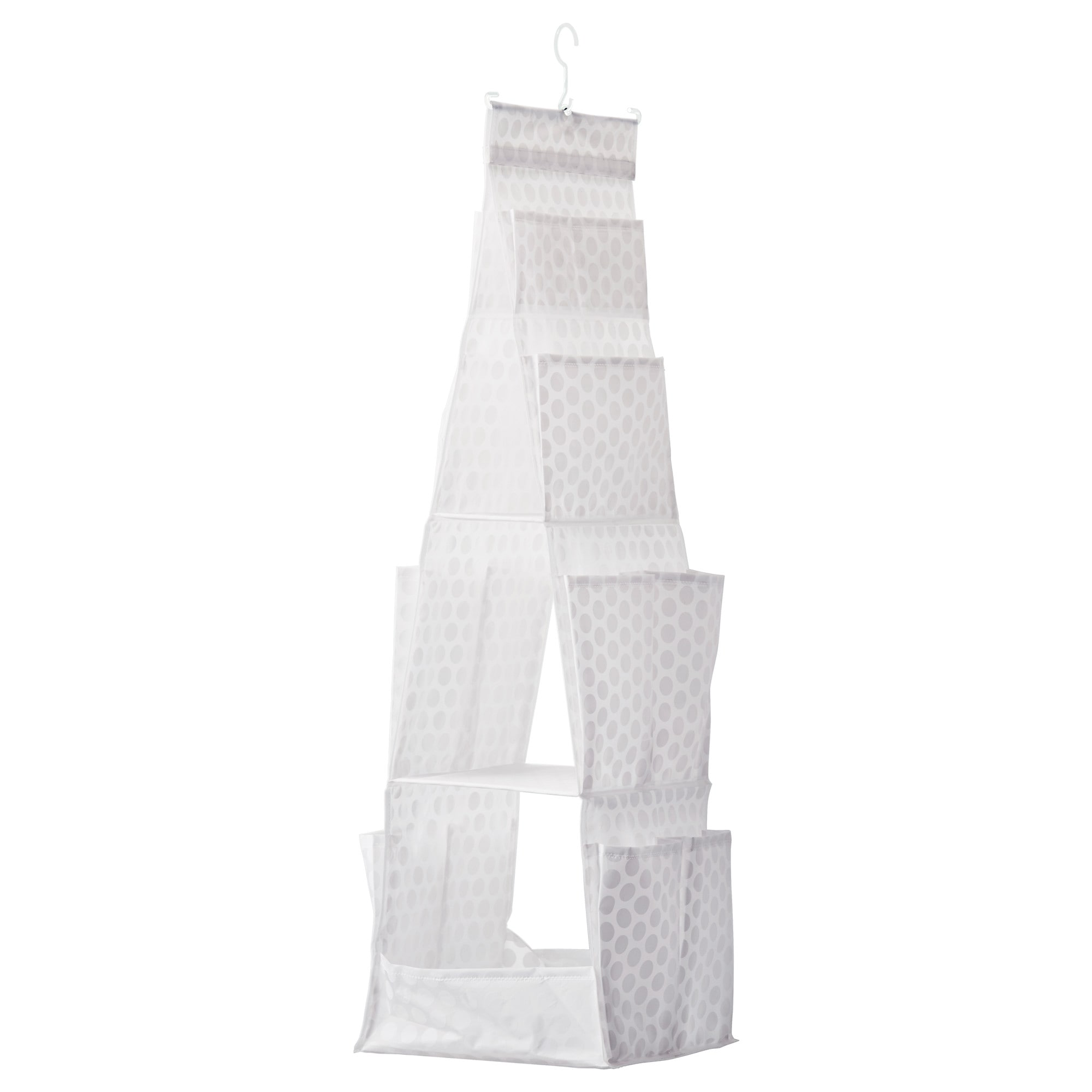 PLURING hanging storage with 3 compartments  white Height including hanger   41     Width. Clothes Organizers   Storage   IKEA
