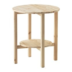 NORNÄS side table, pine Diameter: 52 cm Height: 60 cm