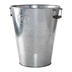 "GRÄSLÖK plant pot, galvanized, indoor/outdoor galvanized Outside diameter: 16 ¼ "" Max. diameter inner pot: 12 ½ "" Height: 19 "" Outside diameter: 41 cm Max. diameter inner pot: 32 cm Height: 48 cm"