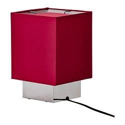 "SÅNGEN table lamp, dark red Diameter: 7 "" Height: 11 "" Cord length: 7 ' 7 "" Diameter: 18 cm Height: 27 cm Cord length: 2.3 m"