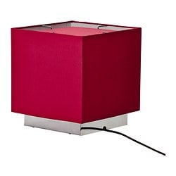 "SÅNGEN table lamp, dark red Diameter: 10 "" Height: 11 "" Cord length: 7 ' 7 "" Diameter: 25 cm Height: 27 cm Cord length: 2.3 m"