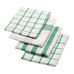 ELLY tea towel, green, white Length: 65 cm Width: 50 cm Package quantity: 4 pieces