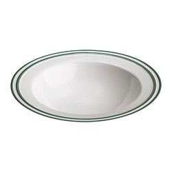ENIGT deep plate, green, off-white Diameter: 24 cm