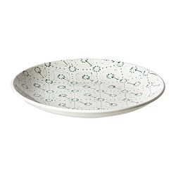 ENIGT side plate, green, patterned Diameter: 22 cm